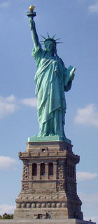 The Statue of Liberty was a centennial gift to the United States from France. (See Franco-American relations.)