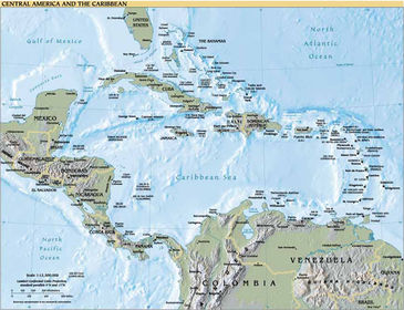 Central America and the Caribbean (detailed pdf map)