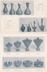 Vintage catalogue image of Art Deco decorative art metalwork designed by Maurice Ascalon and manufactured by the Pal-Bell Company circa the 1940s.