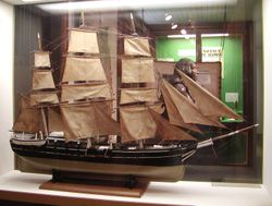 Model of a 19th-century vessel in the Bishop Museum, Hawaii
