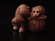 a monkey-shaped netsuke