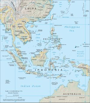 Topography of Southeast Asia