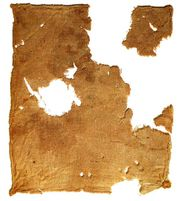 Torn linen cloth, recovered from the Dead Sea